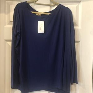 New Pinko long sleeve Blue Top size Small